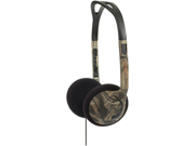 KOSS 180701 Over-The-Head On-Ear Mossy Oak Headphones (Green)