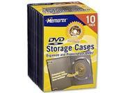 10/Pk Clear Plastic DVD Video Movie Cases