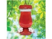 Perky-Pet Glass Top Fill Hummingbird Feeder Red 24 Oz