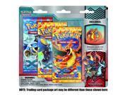 Pokemon Flashfire XY TCG Booster - Three (3) Pack with Fire Mega Charizard Pin