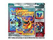 Pokemon Flashfire XY TCG Booster - Three (3) Pack with Dragon Mega Charizard Pin