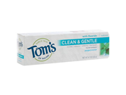 Toothpaste Clean & Gentle Care SLS-free Anticavity+Whitening-Pepermint - Tom's Of Maine - 4.7 oz - Paste