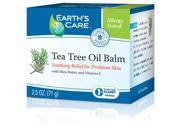 Tea Tree Oil Balm 100% Natural - Earth's Care - 2.5 oz - Balm