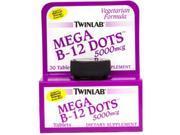 Mega B-12 Dots 5000mcg - Twinlab, Inc - 60 - Tablet