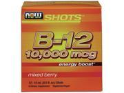 B-12 10000 mcg - Box of 12 Shots by NOW