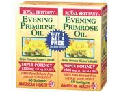 Evening Primrose Oil 1300mg Royal Brittany Twin Pack - American Health Products - 60+60 - Softgel