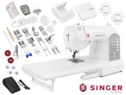 Singer Athena Electronic Sewing Machine w/ SwiftSmart Threading - Includes Extension Table and Amazing Accessory Package