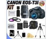 Canon EOS Rebel T3i 18 MP CMOS Digital SLR Camera and DIGIC 4 Imaging with EF-S 18-55mm  IS Lens & Canon EF 75-300mm Telephoto Zoom Lens (2 Lens Kit!) W/16GB SDHC Memory + Accessory Kit!