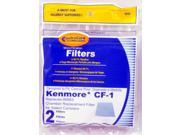 EnviroCare Kenmore CF1 CF-1 Canister Filters 86883 86880, 20-86883, 2086883, 8175084 2 Pack
