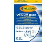 EnviroCare Tristar Canister Micro Filtration Vacuum Bags for MG1 MG2 12 Pack