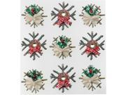 Jolee's Christmas Stickers-Wooden Snowflakes