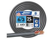 Southwire 63950021 Nonmetallic Sheathed Cable-25' 6-3 NMW/G WIRE