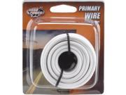 Woods Ind. 14-1-17 PVC-Coated Primary Wire-17' 14GA WHT AUTO WIRE