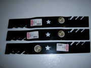 Oregon 95-605 (3 PACK) Gator 3-in-1 Mulcher Blades To Replace 187254/187256