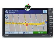 """Pyle PLDNV77U Bluetooth 7"""" LCD Digital Touch Screen Receiver with GPS Maps USB SD Memory Card Readers AUX MP3 Input, Double DIN With Remote"""