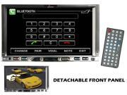 Lanzar SDN72UBD 7'' Double Din TFT Monitor Touch Screen DVD/MPEG4/MP3/DIVX/CD-R/USB/SD/AM/FM/RDS w/Build-in Bluetooth