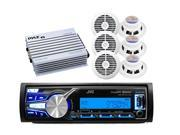 "JVC Marine Bluetooth/USB/AUX Input, 6 White 6.5"" Speakers, 400W Amp"