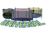 10' Trampoline Net attaches with Straps for Multiple Configurations Semi-Universal Enclosures - Fits Universal