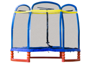SkyBound Super 7 Ft. Trampoline - For Indoor/Outdoor with Enclosure Set