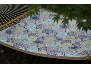 Vivere Quilted Fabric Hammock - Double (Pacifica) New