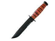 Ka-bar Knives USMC Short Knife- Serrated w/ Sheath