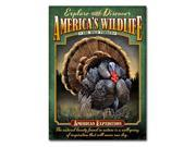American ExpeditionWild Turkey Tin Sign Magnet TINM-130