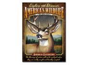 American Expedition Mule Deer Tin Cabin Sign TINS-123