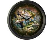 """American Expedition 16"""" Wall Clock Largemouth Bass WCLK-311"""