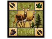 American Expedition Square Coasters Lodge Series Deer CTSQ-602