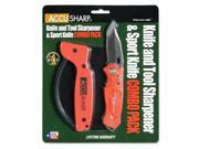 AccuSharp Sharpener & Sport Folding Knife Combo Orange 043C