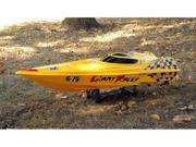 Huge Scale RC Boat Powered By Super Fast Triple 550 Motors - Measures Almost 4 Feet Long