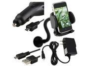Mount+USB+Car+Wall Charger Compatible With HTC Droid Incredible Hd2