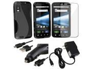 5 Accessory TPU Case Bundle compatible with Motorola Atrix 4G MB860