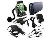 6 Accessory Mount+Headset+Case+USB+ compatible with Motorola i1 Opus One Quench