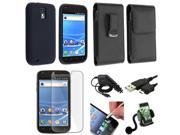 7in1 Accessory Case Charger USB Stylus Mount compatible with Samsung© Galaxy S2 T989 T-Mobile