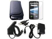 compatible with Motorola Atrix 4G Leather Case+USB Cable+Car Wall Charger+Screen Protector