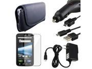 compatible with Motorola Atrix 4G Leather Case+USB+2x Charger+Guard