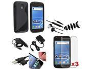 Mega Accessory Black TPU Case+SP+Headset+USB compatible with Samsung© Galaxy S2 T989 T-Mobile