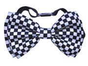Bow Tie White/Black Check