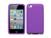 MYBAT Soft Silicone Skin Case(Electric Purple) Compatible With Apple® iPod touch(4th generation)