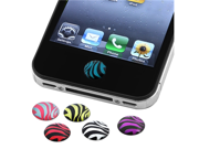 INSTEN 6 Pieces Zebra Patterns Home Button Sticker compatible with new Apple® iPhone® 4S