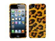Apple iPhone 5/5S Case, Leopard Hard Snap-in Case Cover for Apple iPhone 5/5S, Brown