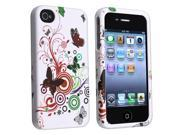 Snap-on Rubber Coated Case compatible with Apple® iPhone® 4 / 4S, White Autumn Flower
