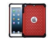 ASMYNA Red/Black Luxurious Lattice Dazzling TotalDefense Protector Cover Compatible With Apple® iPad Mini/iPad mini with Retina display (iPad Mini 2)