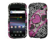 MYBAT Streaming Hearts Diamante Phone Protector Cover Compatible With Samsung© NXS (Nexus S), NXS4G (Nexus S 4G)