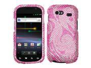 MYBAT Pink Waves Diamante Phone Protector Cover Compatible With Samsung© NXS (Nexus S), NXS4G (Nexus S 4G)