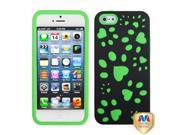 MYBAT Rubberized Black/Electric Green Dog Paw Fishbone Phone Protector Cover for Apple® iPhone® 5 5S