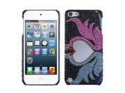 MYBAT Swan Love Heart Mirror Premium Diamante Back Protector Cover (with Package) for Apple® iPod touch® (5th generation)