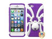 Apple iPhone 5/5S Case, Spidebite Spiderbite Dual Layer [Shock Absorbing] Protection Hybrid PC/Silicone Case Cover for Apple iPhone 5/5S, Purple/White