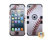 MYBAT Baseball-Sports Collection/Black TUFF Hybrid Phone Protector Cover Compatible With Apple® iPod touch (5th generation)